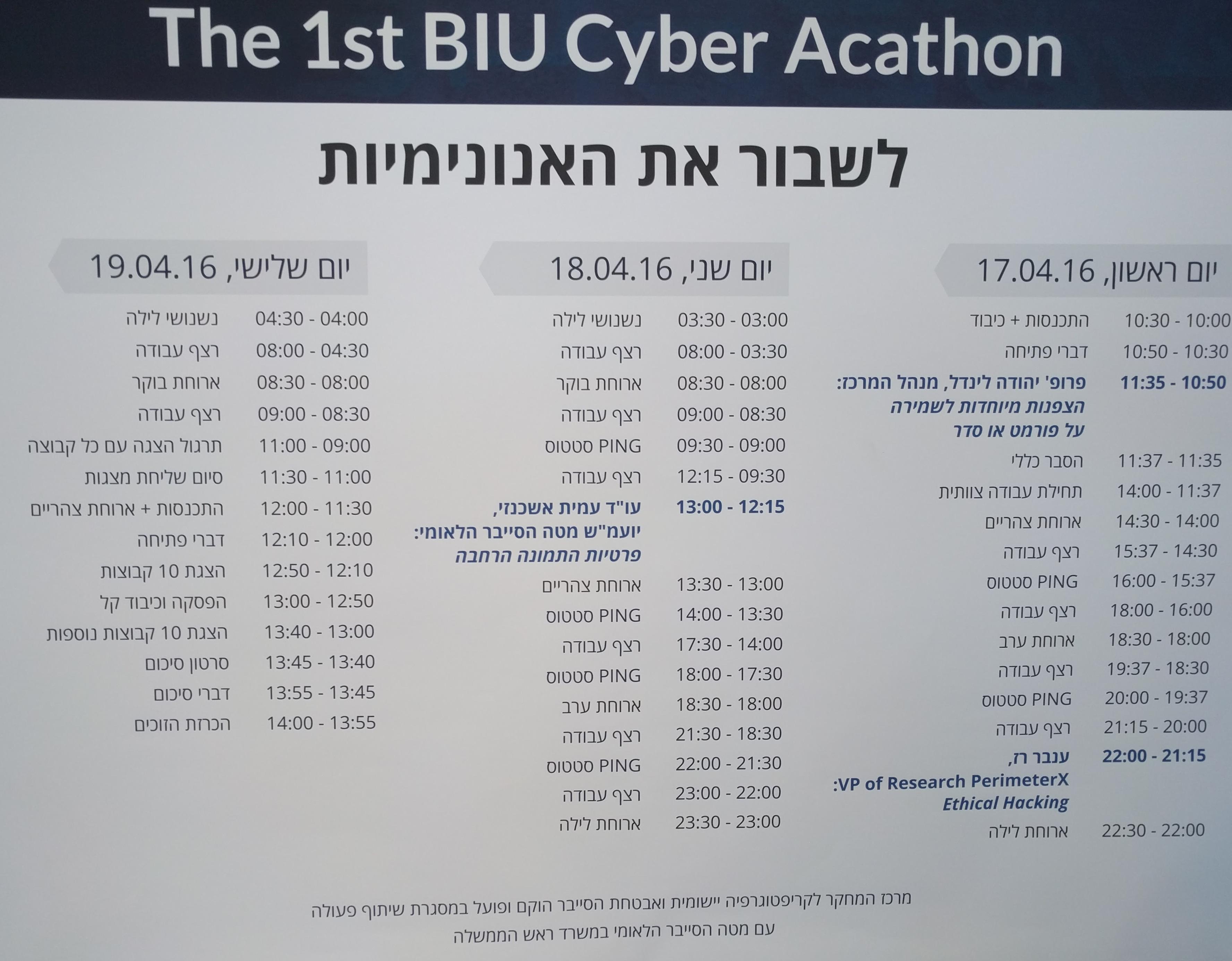 BIU Cyber 3 days