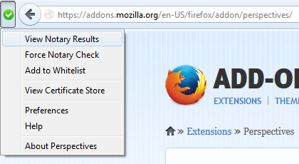 Recommended Firefox security extensions: Perspectives