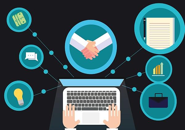 Online transaction steps