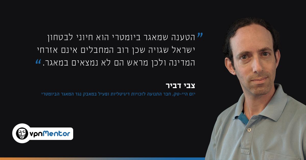 ראיון עם צבי דביר, חבר התנועה לזכויות דיגיטליות ופעיל במאבק נגד המאגר הביומטרי