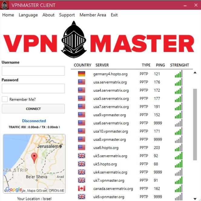 VPNMASTER-servers
