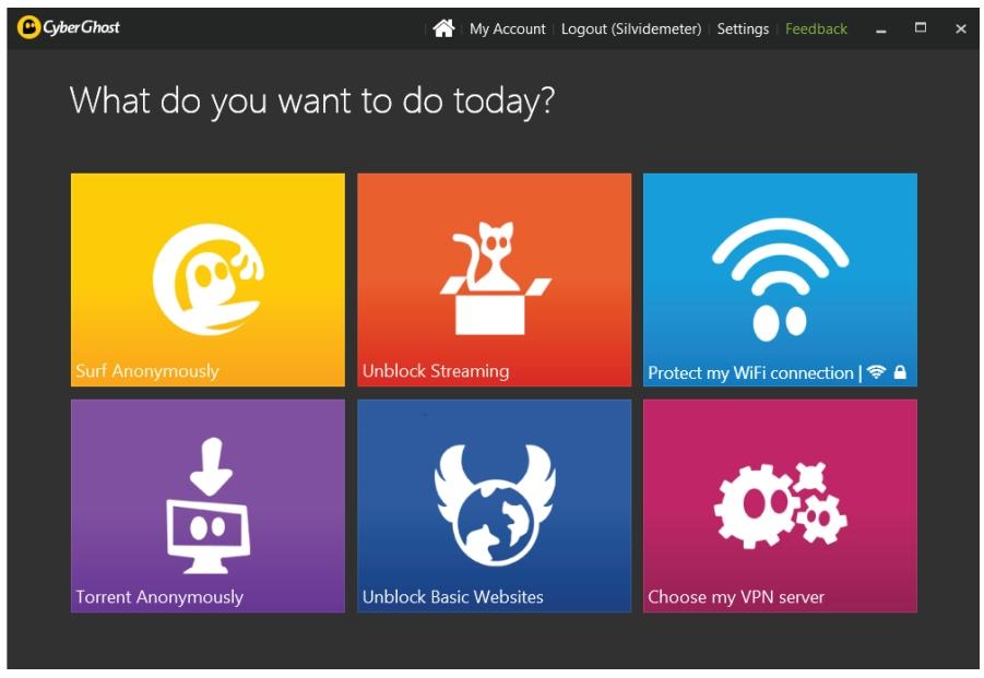 user needs cyberghost vpn