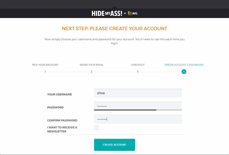 hide my ass vpn account username and password