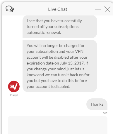 How to close your ExpressVPN account-Live Chat