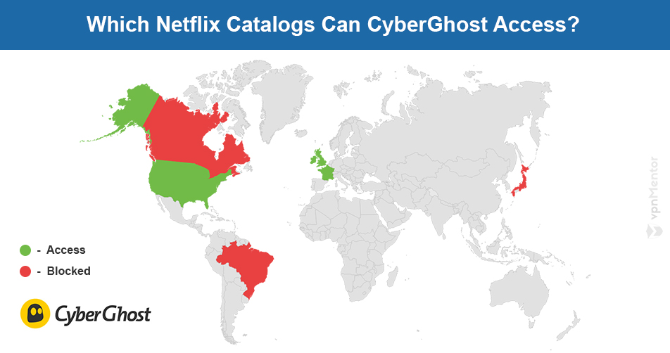 CyberGhost Netflix map