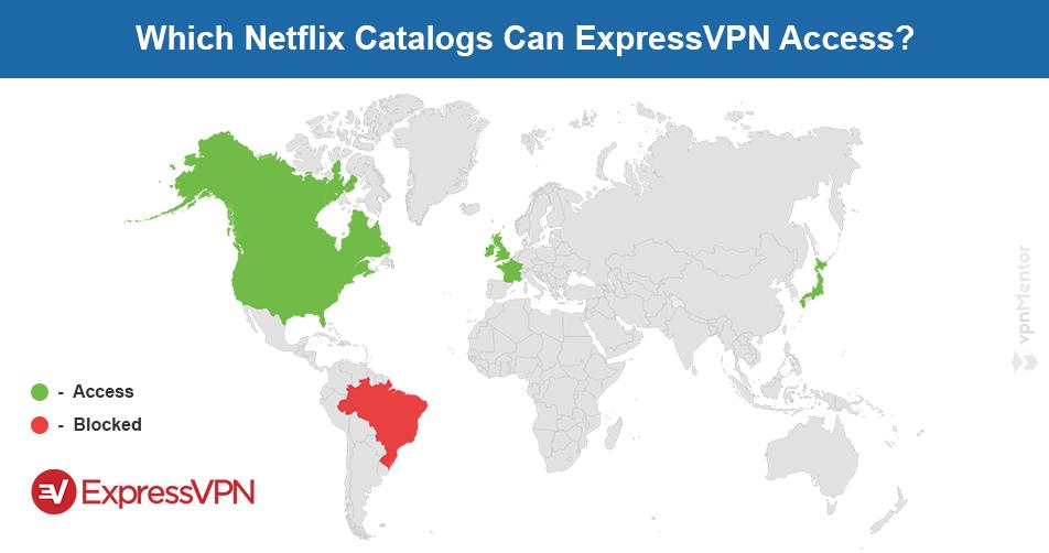 ExpressVPN Netflix map