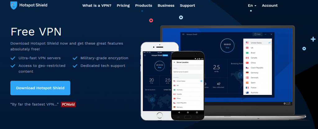 HotspotShield VPN China