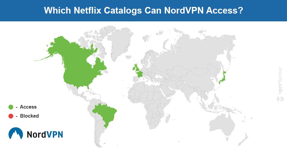 NordVPN Netflix map