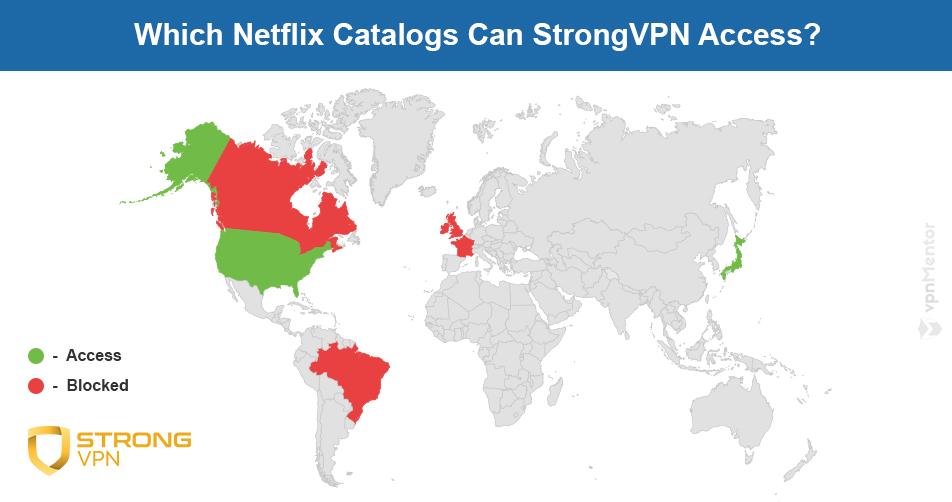 StrongVPN Netflix map