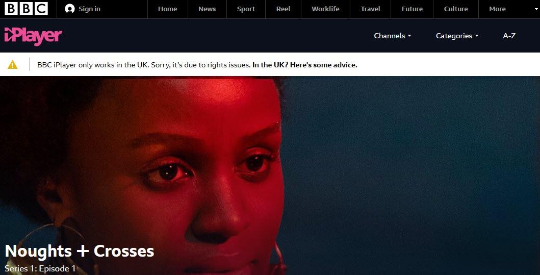 BBC iPlayer geoblocked error