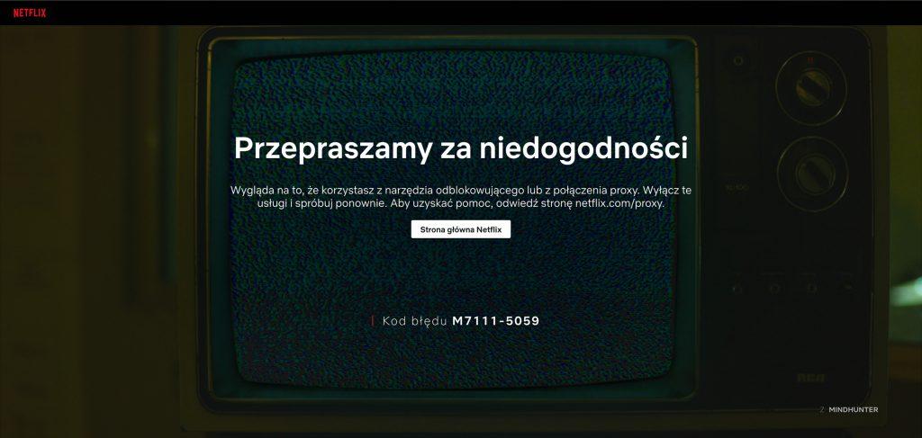 Poland - Netflix Error Image