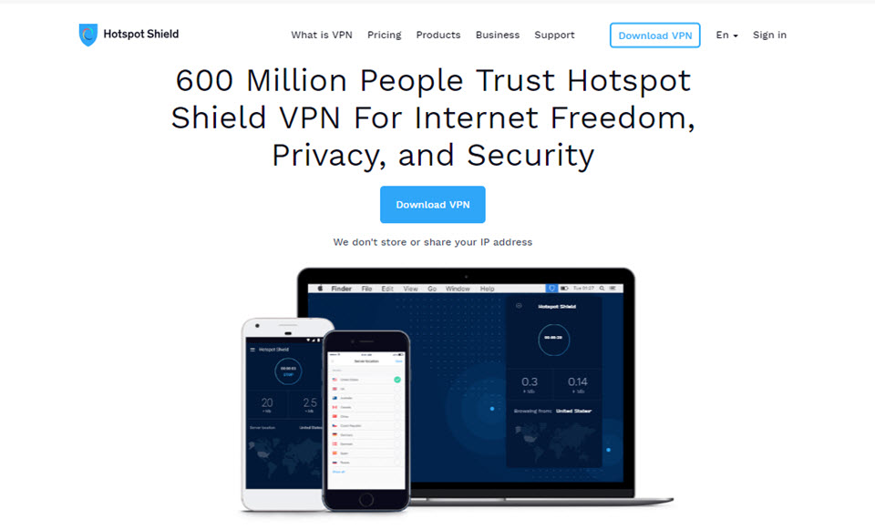 hot spot shield vpn
