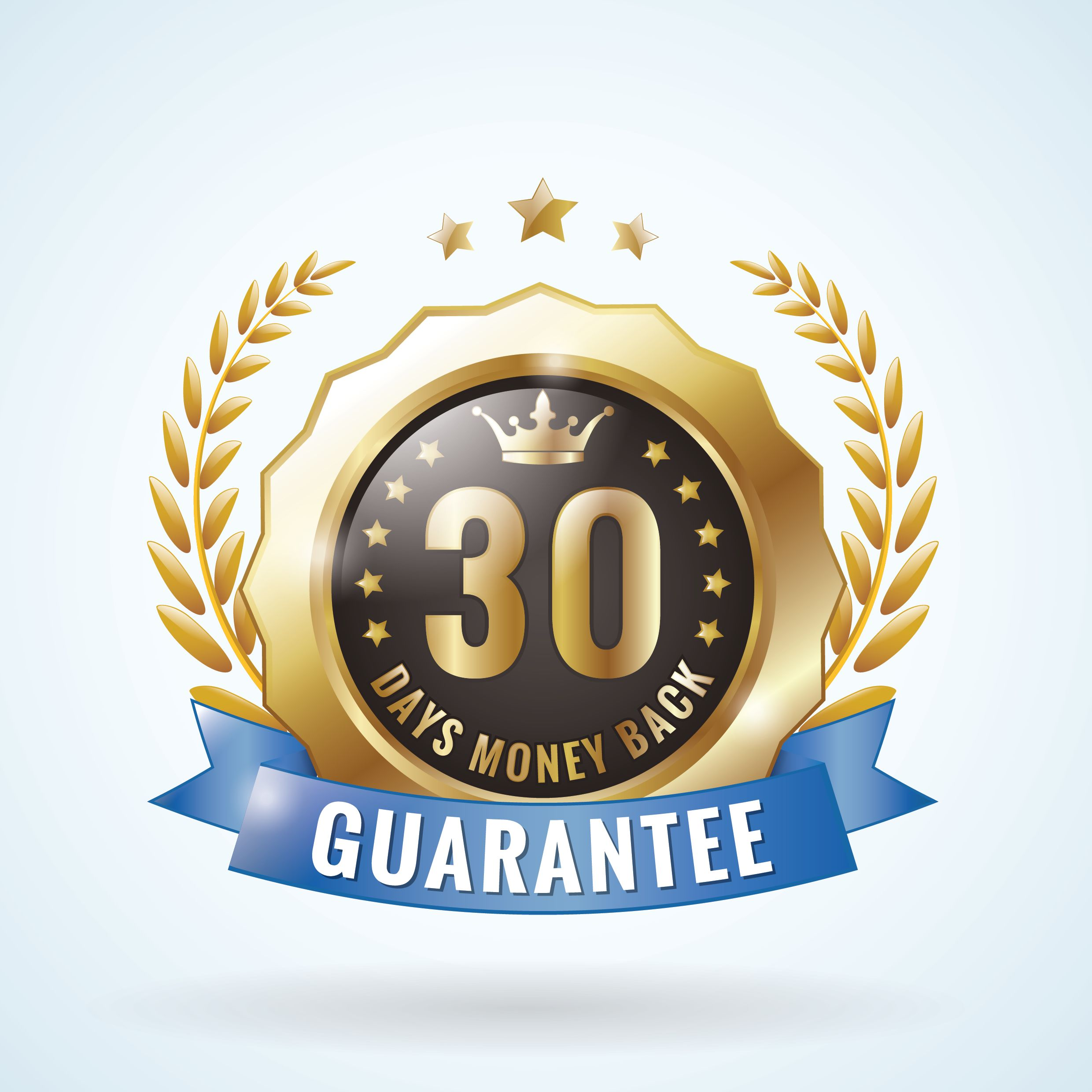 30-day money-back guarantee badge