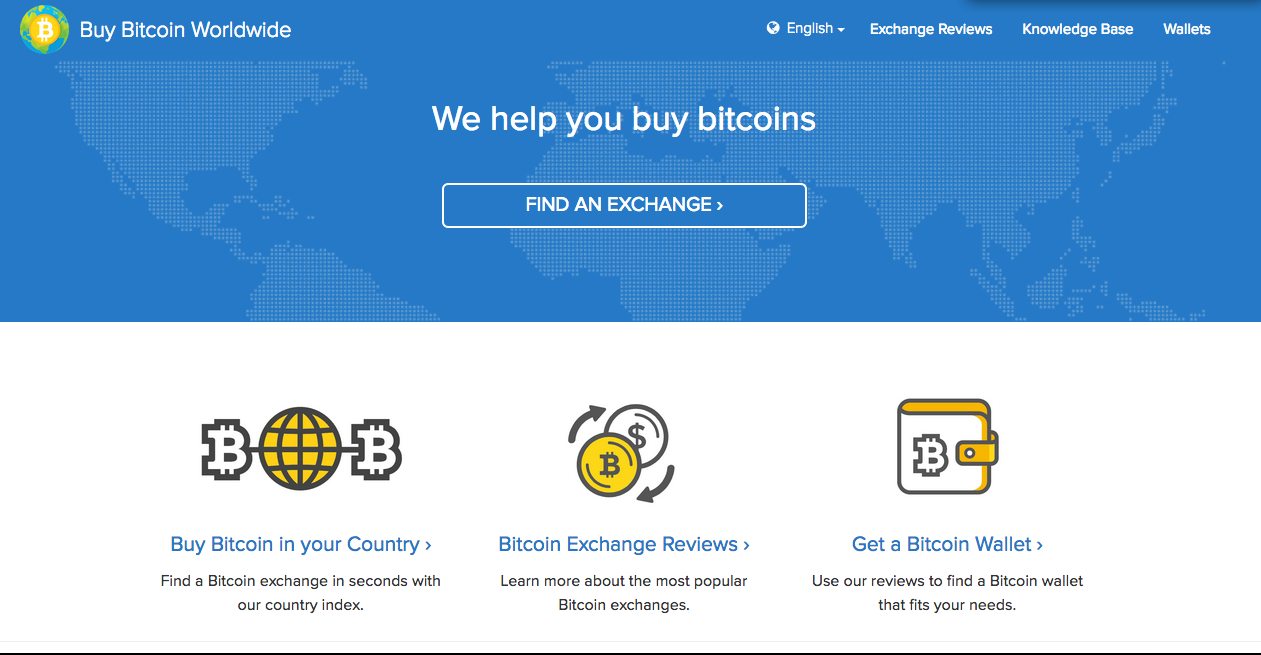 screenshot of We Buy BitCoin Worldwide webpage