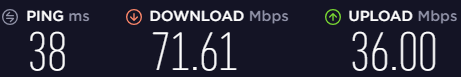 Speed test for a UK server