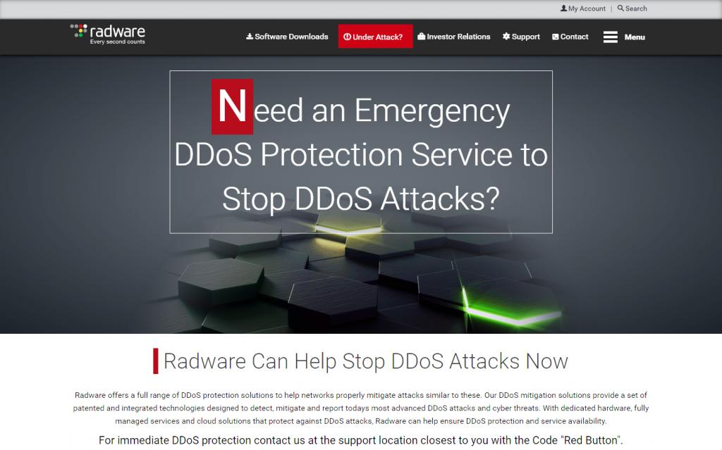 radware emergency-ddos