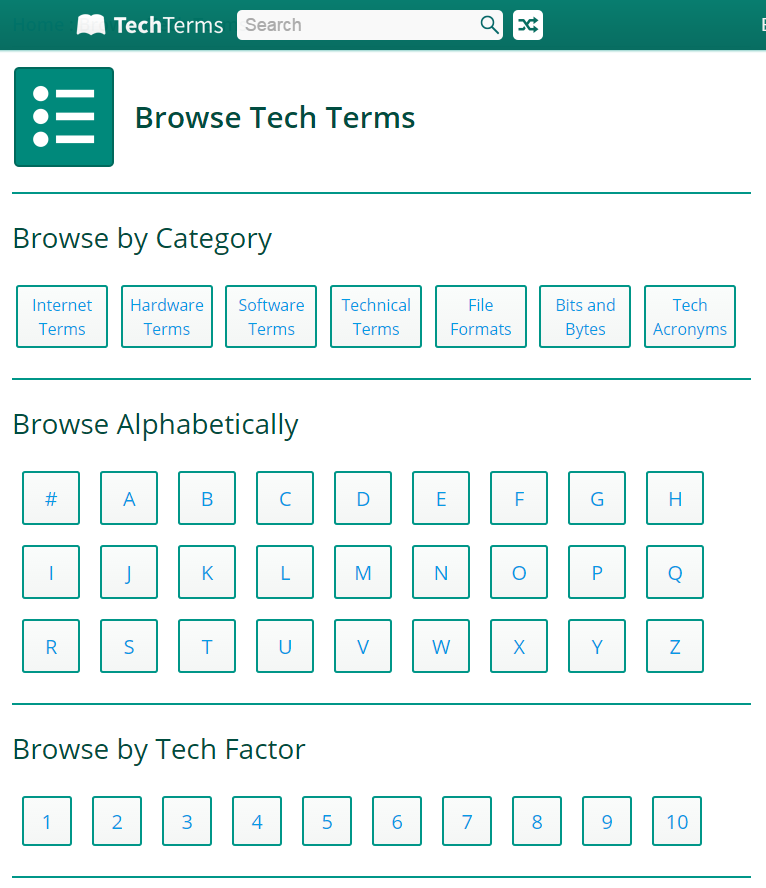 techterms browse