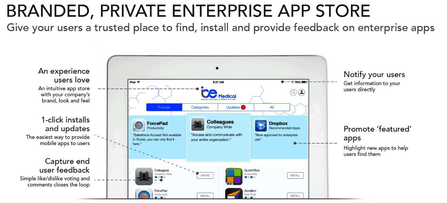 Apperian app store