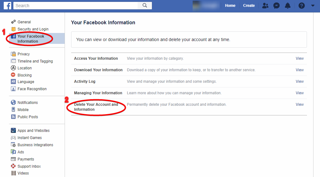 delete your facebook account (2)