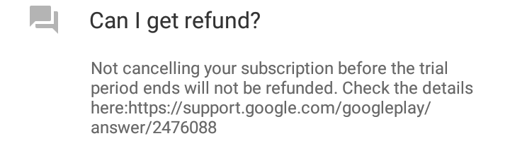Refund FAQ