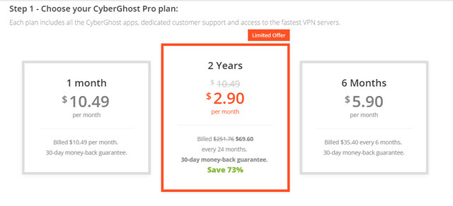 how to open a vpn account with cyberghost pro