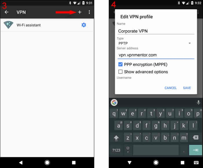 como configurar vpn no android passo 2