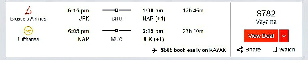 Price discrimination example for airline