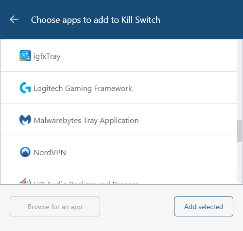 NordVPN kill switch