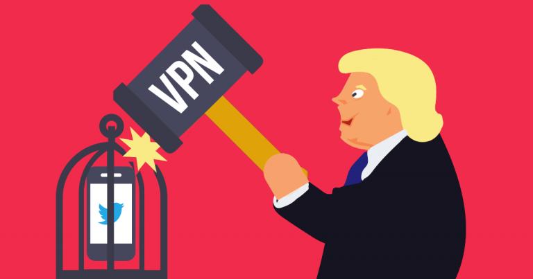 Trump cartoon figure