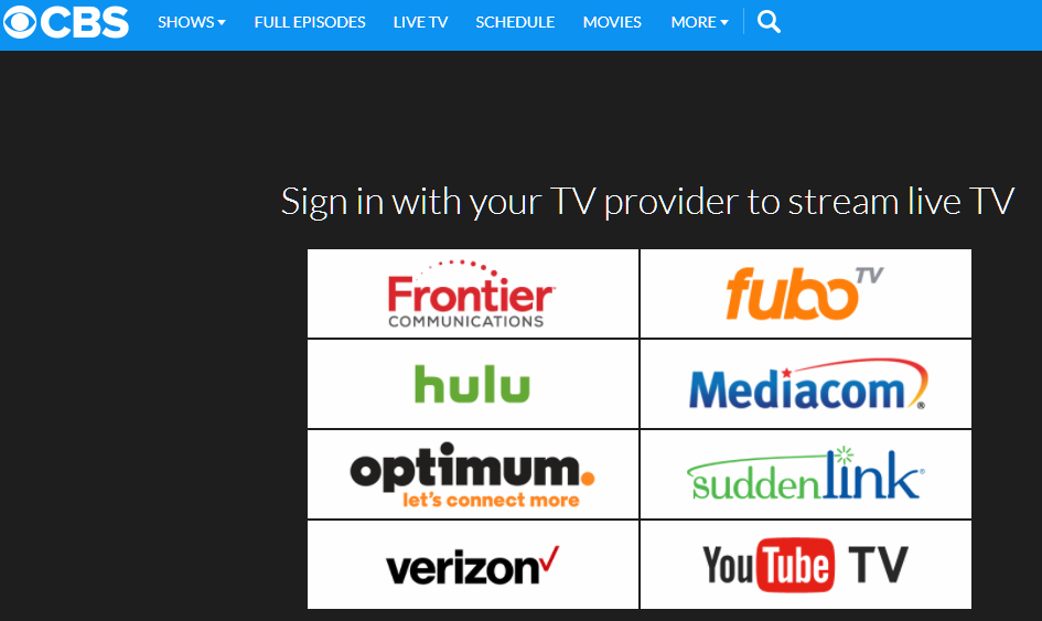 CBS streaming options