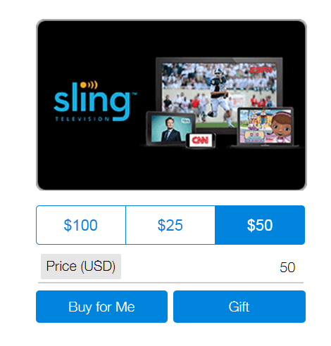 Sling's pricing plans