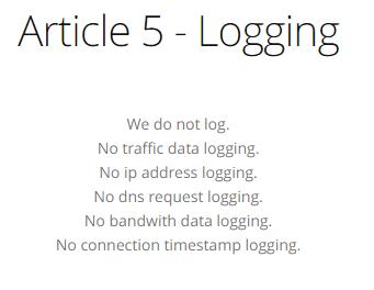 ActiVPN logs policy