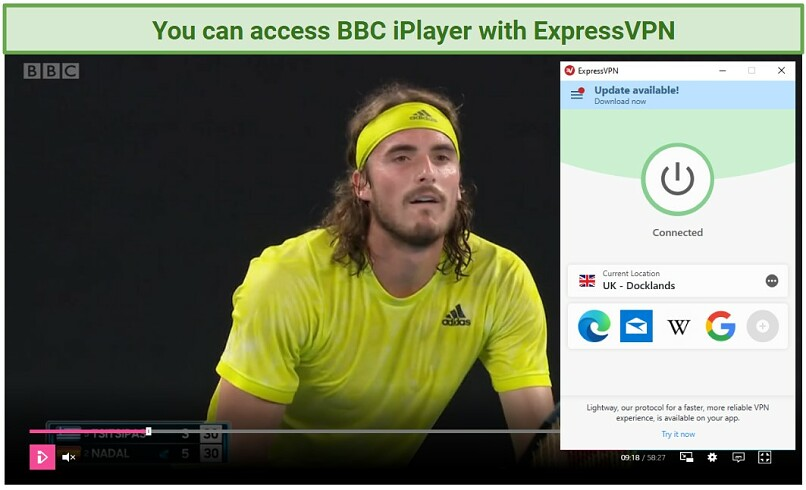 Screenshot of BBC iPlayer unblocked with ExpressVPN