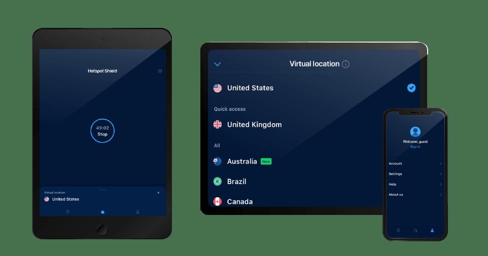 Hotspot Shield iOS devices