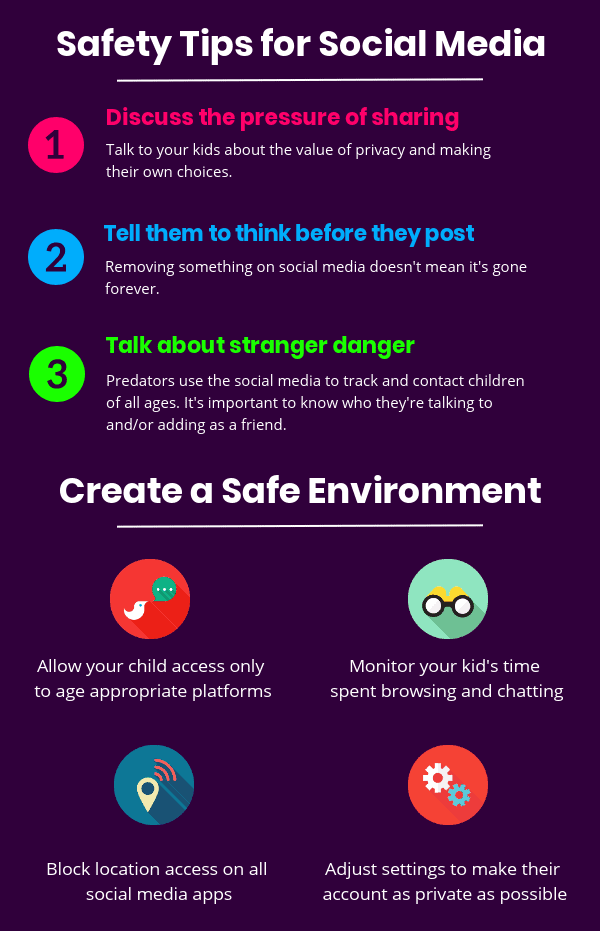 Safety tips for kids on social media