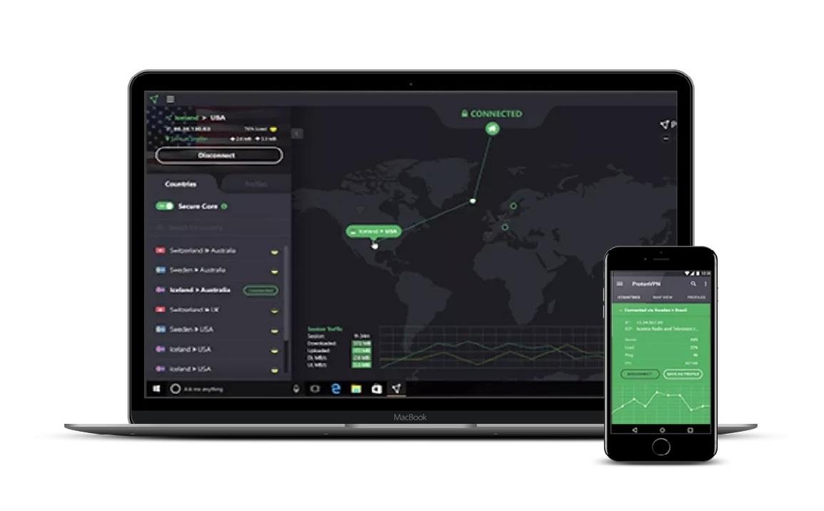 ProtonVPN iOS devices