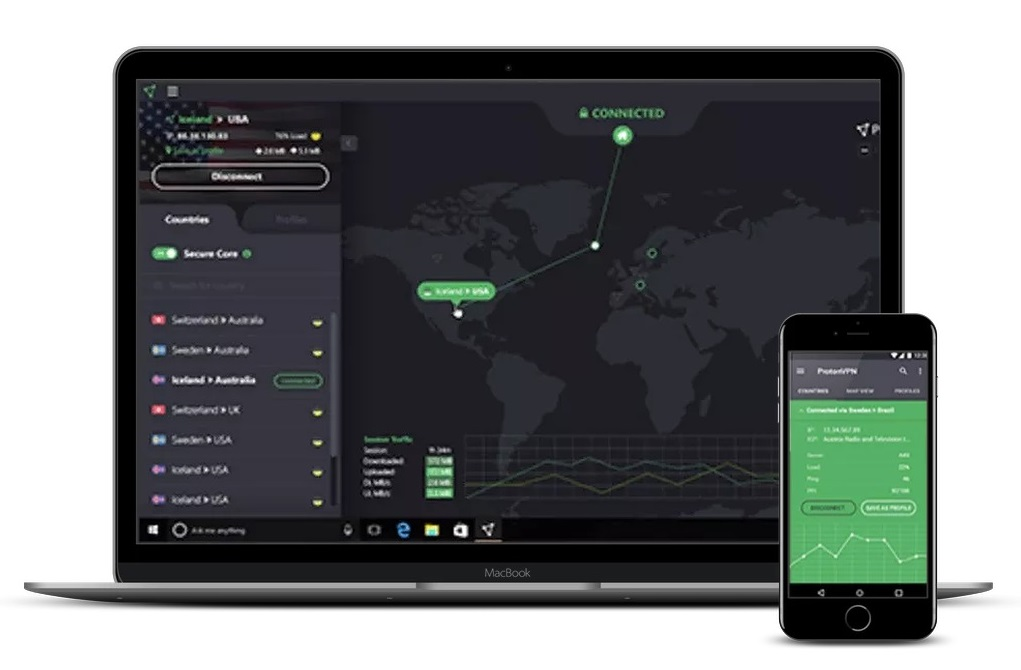 ProtonVPN iOS devices