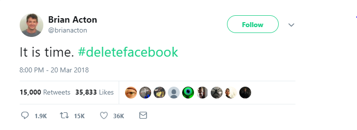 WhatsApp co-founder calls for Delete Facebook