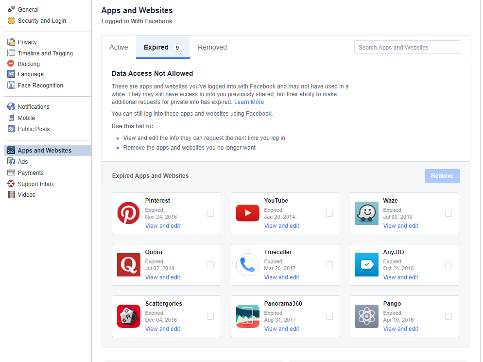 Facebook App 3rd party apps