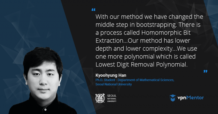 Kyoohyung Han - Bootstrapping and Homomorphic Encryption