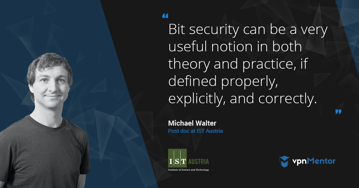 Interview with Michael Walter at EuroCrypt 2018 on the Topic of Bit Security