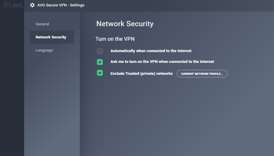 Network security interface