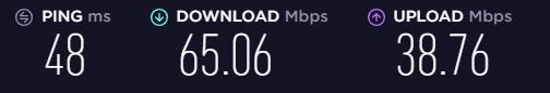 Speed test on an AVG UK Wonderland servers