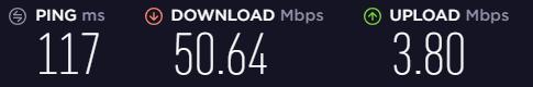 Speed test on an AVG US server
