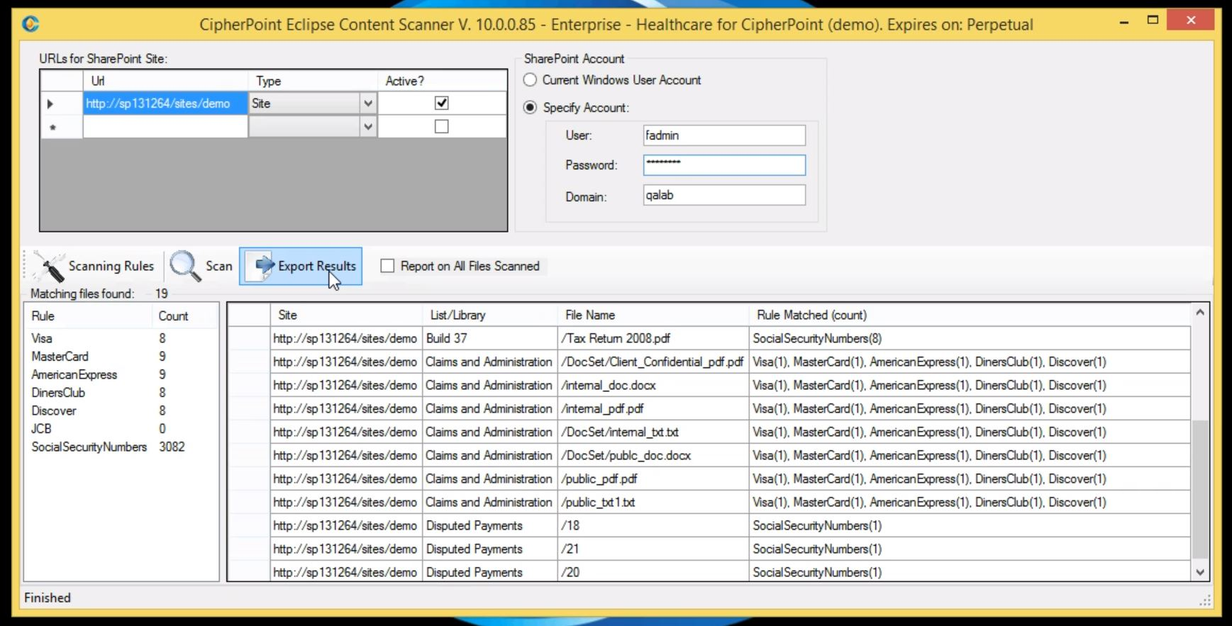 CipherPoint Eclipse Content Scanner
