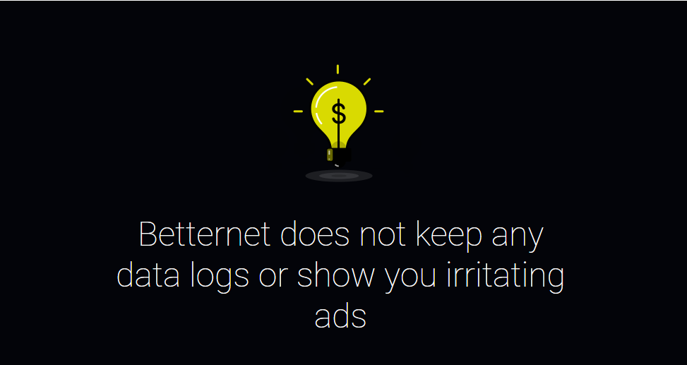 Betternet doesn't have ads