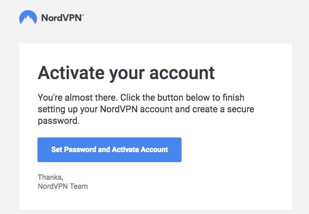 NordVPN activation