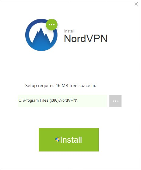screenshot of NordVPN set up wizard