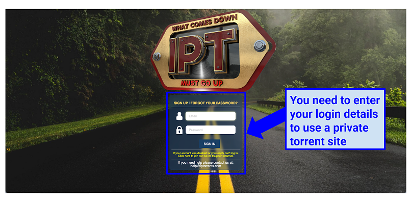 Graphics showing IPTorrentx homepage
