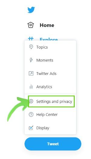 Go to Settings and Privacy